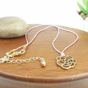 Flower Charm Choker Necklace